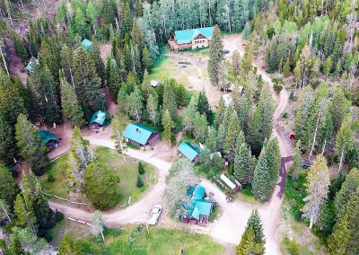 Arial Shot Of Cabins