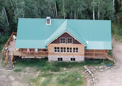 Louis Lake Lodge from the air