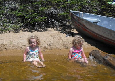 Kids in Lake